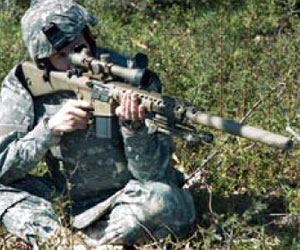 M110 Rifle M110 Sniper Rifle Suppressed