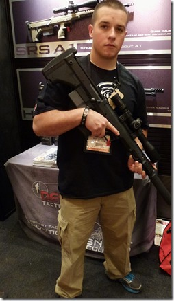 Jake of Desert Tactical Arms was kind enough to hold a pose for me.
