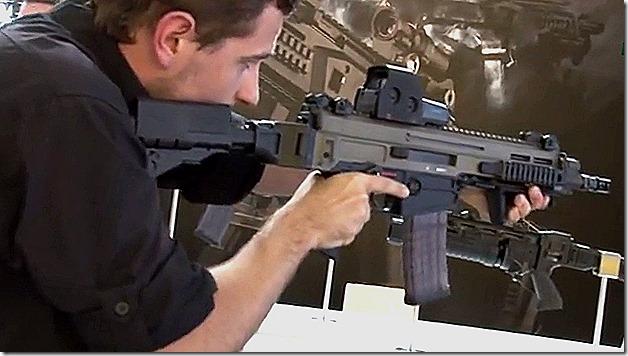 CZ small arms manufacturer CZ-805 Bren P-09 P-07 Eurosatory 2014 defense exhibition Paris France_0012