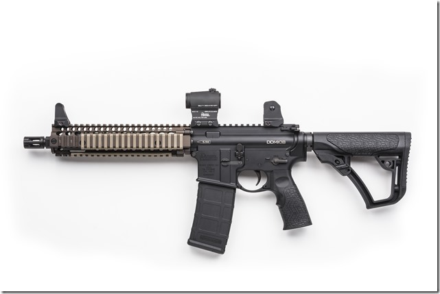 03-045-14131_AimpointMicroMount_LowerThird_AbsCo_WithSpacer_Sight_MK18_Left