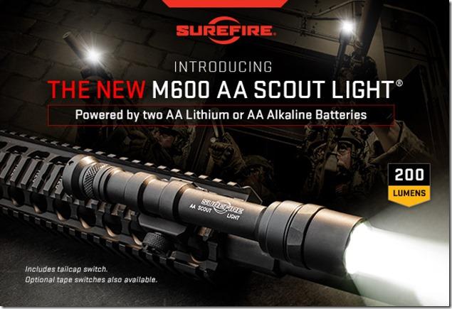 Surefire M600 AA Scout Light