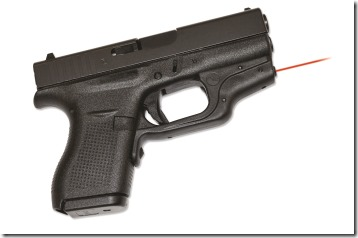 Crimson Trace's LG-443 Laserguard on a Glock Model 42 pistol