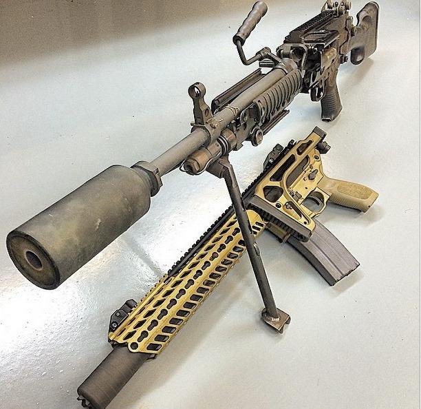 sig arms tests prototype machine gun suppressor fog horn