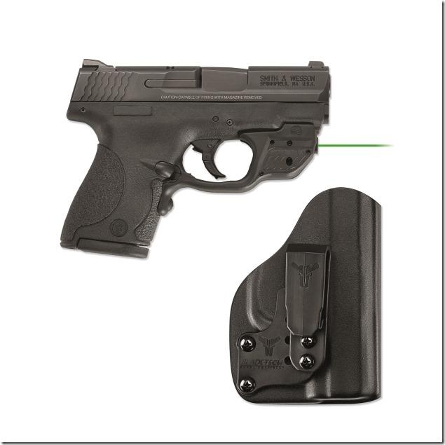 Crimson Trace LG-489GH-BT S&W Shield Laserguard w Blade Tech holster