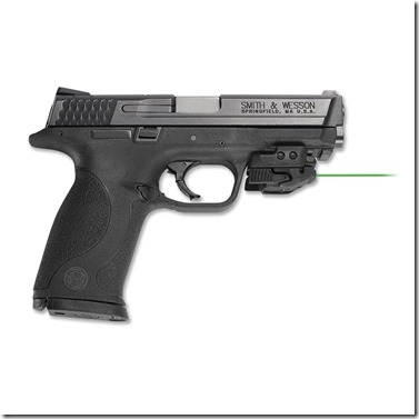 Crimson Trace green laser CMR-206 on S&W Shield