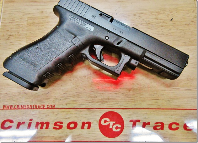 Glock 17 with Crimson Trace red GLS-630