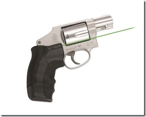 Crimson Trace LG-350G with green laser on a S&W Revolver