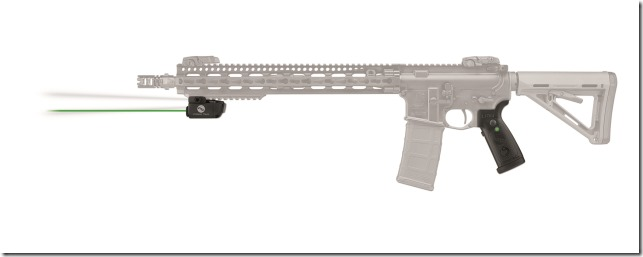 Crimson Trace LiNQ LNQ-100 grip and module on Rifle