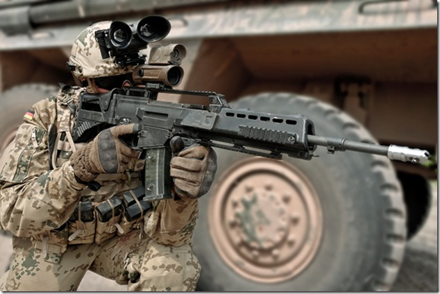 2015_German_Armed_Forces_Soldier_with_4x30_RSA-S_in_dessert_landscape