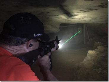 laser sight KY cave Rock castle