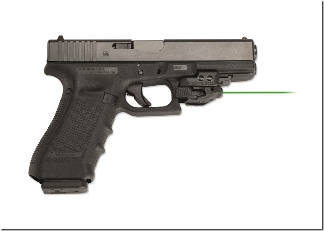 Crimson Trace CMR-206 Rail Master on a Glock pistol - Copy