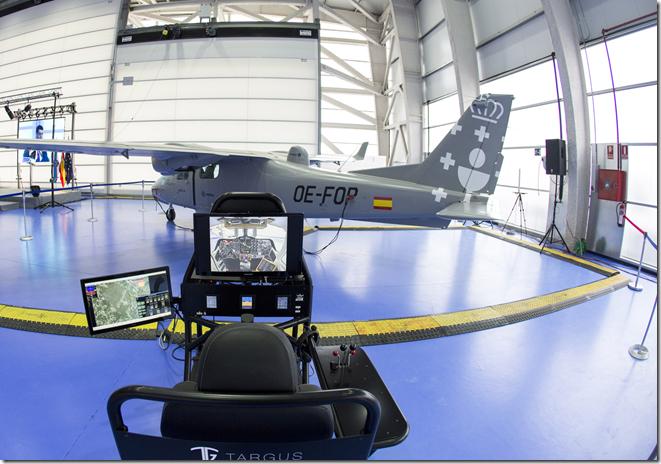 Indra Opcional Piloted Vehicle Aircraft Targus