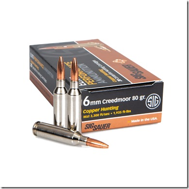 6mm Creedmoor Elite Copper Hunting Ammunition